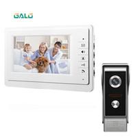 """Telefones da porta de vídeo 7 """"Sistema de telefone com fio Campainha Visual de Intercomunicação com 1 * 800x480 Monitor + 1 * 700TVL Câmera exterior para vigilância em casa"""