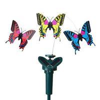 Solar rotierender Simulation Schmetterling flattern lustige energie spielzeug vibration hummingbirne fliegende gartenhof dekoration c4370