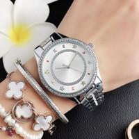 Moda Cristal Design Relógios Mulheres Menina Estilo De Metal Band Band Quartz Wrist Watch M92