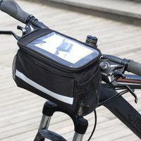 Saco de guiador à prova d 'água da bicicleta de bicicleta de bicicleta de bicicleta de ciclismo quadro de bicicleta à prova d'água com strap1 mais amplo