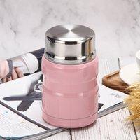 500ml / 750ml thermos sopa de alimentos recipiente lancheira de lancheira grande-capacidade frasco de aço inoxidável garrafa de água térmica portátil lj201218