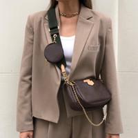 إمرأة حقيبة يد السيدات محفظة أكياس الكتف محفظة الهاتف رفرف ثلاث قطع الثلاثي مختلفة حزام الشريط مزيج crossbody الداخلية دون مربع
