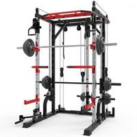 2021 Smith machine steel squat rack gantry frame fitness home comprehensive training device free squat bench press frame.1 F7257
