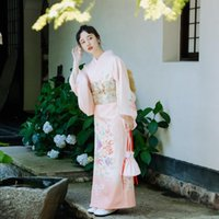 De lujo japonesa tradicional kimono de toma de fotos de cosplay vestido de la mujer yukata femeninos Haori Japón kimonos obi geisha de disfraces