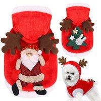Cão de Natal Pet Fontes Roupas XS-2XL Linda Roupas de Algodão de Algodão Ornaments Elk Engraçado Outono Inverno Roupas Bonito Casaco VT2086