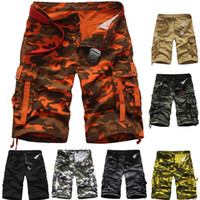 2020 Summer Summer Taille en vrac Casual Tube Tube Tube Culotte Camouflage Pocket Camouflage