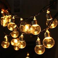 6m 20 Ball LED Ball Garland String Fairy Lights Party di nozze Decorazione della casa Decorazione della lampadina Lampadina per feste Lampade da festa Giardino Garland 20pcs 27 O2