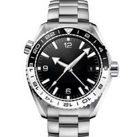 أزياء الرجال GMT رجل الماس الميكانيكية الفولاذ المقاوم للصدأ حركة الأوتوماتيكية مصمم جيمس بوند 007 مشاهدة الرياضة 600M ساعات ساعات المعصم