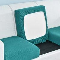 1PC Funiture protector Jacquard grueso del sofá cubierta del amortiguador del sofá del protector del amortiguador de asiento Funda elástica color sólido