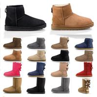 2020 Новый фамион женские ботинки снежные зимние ботинки австралийский атласный ботинок лодыжки пинетки меховой кожаный дизайнер на открытом воздухе обувь размер 36-41 UX0O #