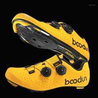 Calzado de ciclismo Boodun Road Shoes ultraligero transpirable Bici hombres antideslizante auto-bloqueo carreras zapatillas de bicicleta1