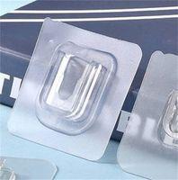 لا هوك الحفر ذاتية اللصق للماء الشفاف السنانير البلاستيك traceless مربع المفاجئة زر 6 * 6 سنتيمتر الساخن بيع 0 14YZ N2