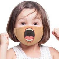 Nuovo Unisex 3D Funny Face Stampato Maschere per adulti Bambini Adulti Venti Lavabile Lavabile Riutilizzabile in cotone regolabile Bocca Mask CCE4290