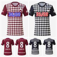 2021 Vissel Soccer Jerseys J1 League # 8 A.iniesta Ogawa Douglas Uniforme de futebol 2022 Furuhashi Kyogo Home Away Terceira Camisa de Futebol Tailândia