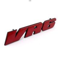 جولف 3 صائق MK3 مصبغة logo الأحمر VR6 سيارة الجبهة الشواية شارة شعار ملصقا