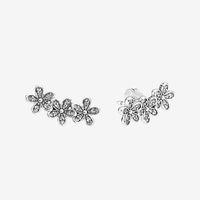 CZ Diamond Sparkling Daisy Stud Boucles d'oreilles Belles femmes Summer Bijoux pour Boucle d'oreille à fleurs en argent sterling 925 avec boîte