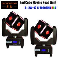 2XLot schnelles Schiff 6X12W RGBW Quad Farbstr Cube LED Moving Head Lichter 8 Grad Abstrahlwinkel Professionelle Bühnenshows Equipments