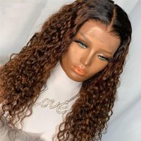 Spitze Perücken Peruanisches Ombre braun Glueless 360 Frontal-menschliches Haar mit Baby voll für schwarze Frauen natürliche Haaranleitung