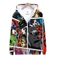 Persona 5 Hoodie Kapüşonlu Ceket Fermuar Ceket Erkekler Kadınlar Kid Kazak Persona5