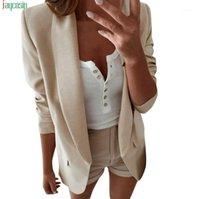 Trajes de mujer blazers jaycosin dama blazer mujeres suelta femme chaquetas arriba manga larga casual chaqueta damas oficina ropa de desgaste femenino1