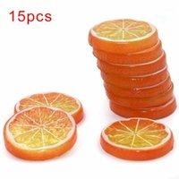 15pcs fette artificiali migliori fette di frutta artificiale arancione ,, lime prop visualizzazione realistica decorazioni
