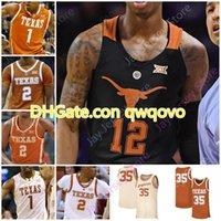 2020 사용자 정의 텍사스Longhorns 농구 유니폼 NCAA 대학 심즈카이 존스 카마카 헤파 도노반 윌리엄스 Royce Hamm Jr. Jase Feerres