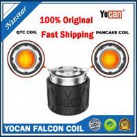 Yocan Falcon Reemplazo Cabeza de bobina QTC QTC Quatz Triple Coil Pancake Coil Atomizer Core para el kit de dispositivo DAB concentrado de cera
