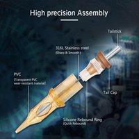 20 adet / kutu RM Dövme Kartuşu İğneleri Tek Kullanımlık Sterilize Güvenlik Dövme İğnesi Kartuş Makineleri İçin Saplar 0. Qylxgg