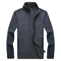 2021 осень зима мужская свитер пальто толщиной пальто теплый повседневный трикотаж кардиган из искусственного меха шерсти свитер куртки мужчины на молнии