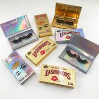 Boîte de cils de cils de vente chaude Boîte d'emballage de cils moelleux 25mm vison flases cils de lashwood holographiques personnalisés