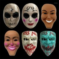 Halloween Purge Mask God Cross Scary Masks Cosplay Party Prop Collection Full Face Faccia Creepy Horror Movie Masque Halloween Mask1