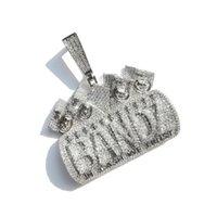 Lettere ghiacciate in contanti Contentiamo la collana del pendente per gli uomini donne Micro Pavy Zircon collane gioielli hip hop Y1220