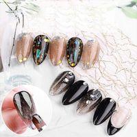 1 hoja 3D Malla de seda pegatina de lámina DIY brillo creativo neto línea decalada decoración de uñas herramienta manicura mujer personalidad pegatina de uñas