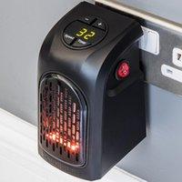 Pared fan-400w Calentador eléctrico portátil Plug-in Espacio Personal Calentador de calefacción interior ajustable del termostato del calentador eléctrico
