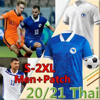 Bosnia-Herzegovina Soccer Jerseys 2020 2021 Naciones League New Home Blue Football Shirts Edin Dzeko Pjanic Visca Hodzic Gojak Uniforme Krunic