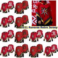 Vegas Goldene Ritter 2021 Reverse Retro Hockey-Trikots Chandler Stephenson Brendan Brisson Marc-Andre Fleury Ryan Revenves Custom genäht