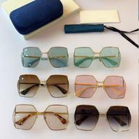 2020 Womens Square Square Moda Óculos de Sol 0817 Óculos de Sol Frameless 0817s UV400 Óculos protetores topo Alta qualidade com caixa original