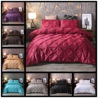 Plain Color Bedding Set Puxando Flores Bolsas de Cama Simplicidade Almofada Caso Novo Caso Queen Cama Edulantes Conjuntos 82xQ K2