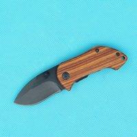 Nuova DA33 Piccola Sopravvivenza Pieghevole Blade Coltello 440C Blade Drop Blade Blade Legno + Maniglia in acciaio con clip posteriore Strumenti per escursioni Coltelli