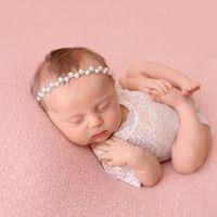 Girls Newborn Hairband Rhinestone 2020 Vintage Beauty Handmade Headbands Pearl Beads Elastic Kids Hair Band Wedding Accessories