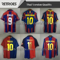2006 Roaldinho 11 12 1 Aretro Home Soccer Jersey 1996 1997 Away Classic Thailand Quaersey Stoichkov 98 99 Классика # 11 Rivaldo Футбольная рубашка