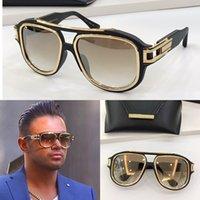 GM sei occhiali da sole di moda con protezione UV per uomo vintage Plank rettangolo telaio di qualità superiore Case Classic
