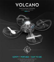 Dobrável Drone Gesto Controle Aérea Fotografia Quadcopter Somatosensory Gravity Sensor com luz de controle remoto de avião Brinquedo infantil