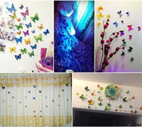 12pcs 3D Butterfly Wall Sticker PVC Simulation Stereoscopic ...