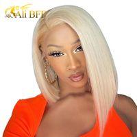 Sarışın Dantel Ön Peruk Brezilyalı 613 Kısa Bob Dantel Ön İnsan Saç Peruk Siyah Kadınlar Için Ali BFF HD Şeffaf Dantel Peruk