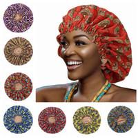 11 Styles Soins capillaires Bonnet Impression Dôme NightCap Élastic Frontal Head Wrap Femmes Edge Bandeau Bande Sacs Baignoires LJJP697-2
