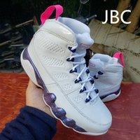 Hot Brand Classic Bianco JBC9 Mens Scarpe da basket High Carino Fashion Pink Multi Color 9S Mens Trainer all'aperto Sneakers sportivi EUR 40-47