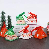 Navidad caja del caramelo DIY de papel cajas de regalo de Navidad Presenta favores de partido de la decoración de empaquetado de la galleta de la caja T2I51662