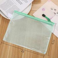 الجدة شبكة الملفات حقيبة طالب قلم الحقيبة عالية السعة الكورية حقيبة شفافة سستة مقلمة القرطاسية اللوازم المدرسية Q BBYXHP