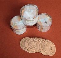 Poşet Çanta Promosyon Doğal Hint Sandal Ağacı Tütsü Bobin Kutusu Başına 48 Yanan 4 Headoil Sandal Bobinleri İncenso Aromatik Ptgly Gwqag